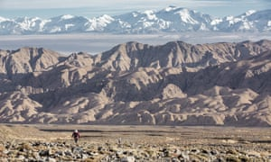 Running in the inaugural Ultra Trail of the Gobi, in 2015.