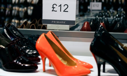 Shoes on sale at Primark.