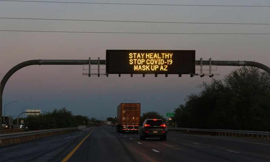 A freeway display in Red Rock, Arizona on 23 June 2020.