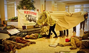Tar Sands Blockade occupy the corporate offices of TransCanada on 7 January 2013