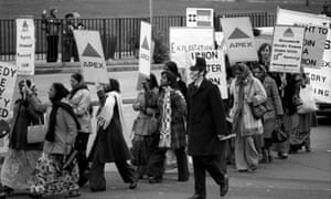 Grunwick protesters in north London, 1976: 'the grounding for the struggles of my generation'