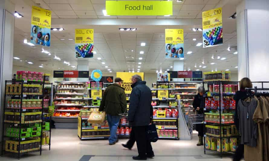 A Marks and Spencer food hall