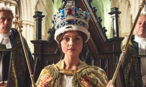 Jenna Coleman as Queen Victoria in ITV's Victoria.
