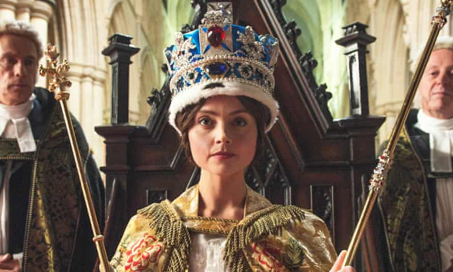 Jenna Coleman as Queen Victoria in ITV's Victoria.
