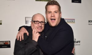 James Corden, right, with Room director Lenny Abrahamson.