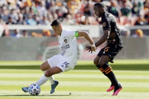 Mexican forward Javier 'Chicharito' Hernandez made his debut for the Galazy against Houstan Dynamo.