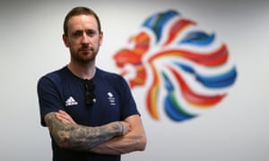 Sir Bradley Wiggins in the BOA offices at the Olympic Park in Rio de Janeiro