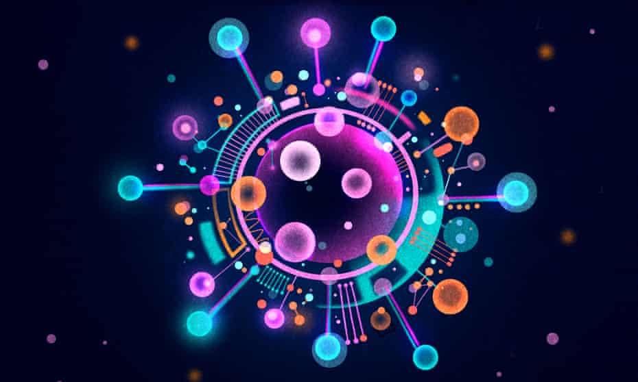 Coronavirus data ball illustration