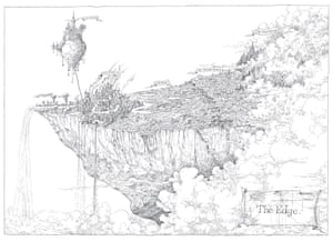 Map of The Edge in The Edge Chronicles by Paul Stewart and Chris Riddell