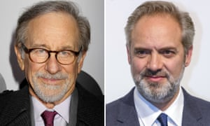 Steven Spielberg and Sam Mendes, who hope to film some of 1917 on Salisbury plain.