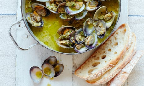 Thomasina Miers' recipe for clams with wild garlic and nut picada