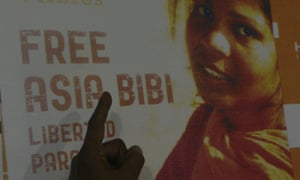 A poster calling for the release of Asia Bibi