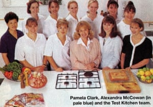 The test kitchen team responsible for the Children's Birthday Cake Book