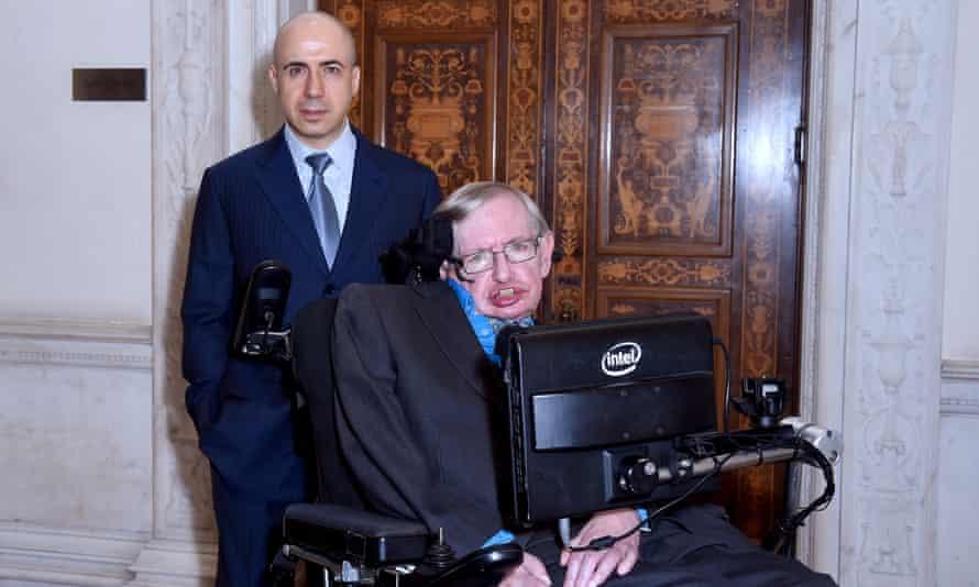 Yuri Milner And Stephen Hawking: reaching for the stars.