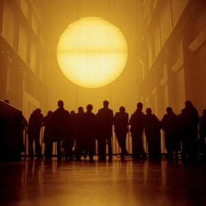 """Olafur Eliasson's installation in Tate Modern London. 2003The Danish artist, Olafur Eliasson's installation of a huge artificial sun in the Turbine Hall""""Global catastrophes remind us we are part of a vast and powerful universe, illuminating the insignificance of our differences. Differences we must strive to overcome."""" - Estate of Peter Marlow"""