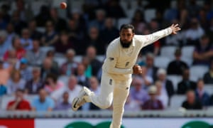 Adil Rashid in action for England during the Fifth Test against India.