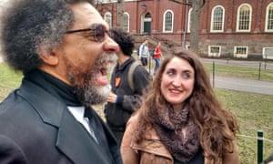 Cornel West at Harvard protest