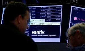 Vantiv logo on a computer screen