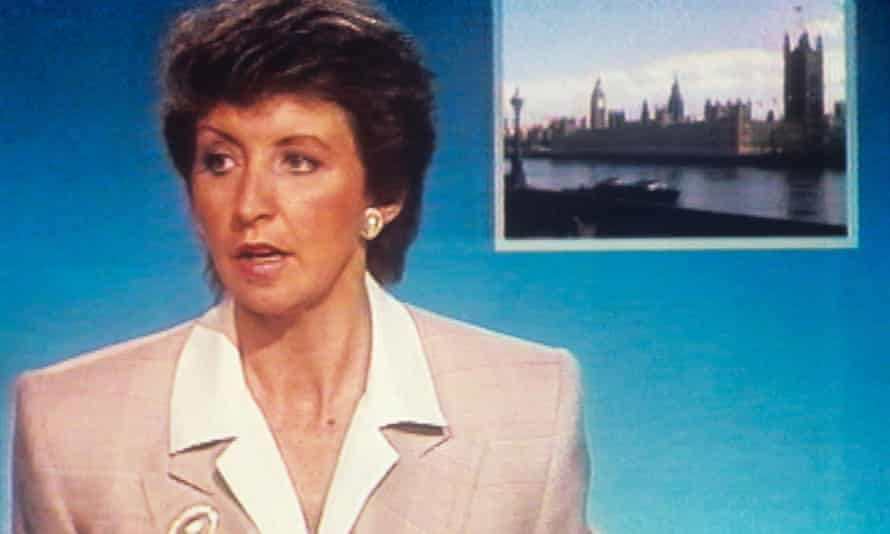 Sue Lawley reacts to the studio invasion.