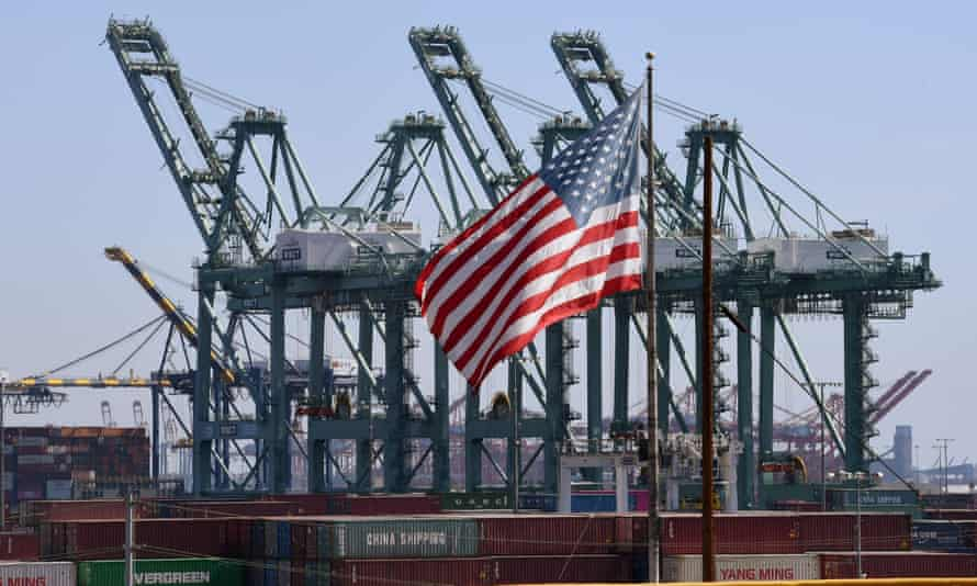 The port of Long Beach in the US