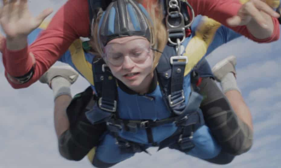 Blue sky thinking … Deragh Campbell leaves her troubles on the ground in Anne at 13,000ft.