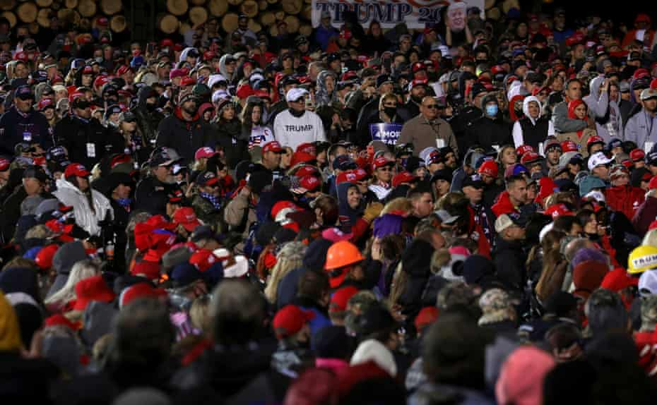 Trump's campaign rally in Duluth, Minnesota Wednesday.
