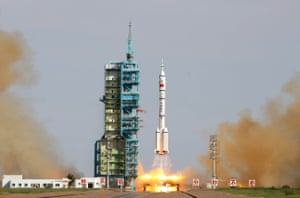 China's Shenzhou-10 rocket blasts off from the Jiuquan space centre in the Gobi Desert in June 2013
