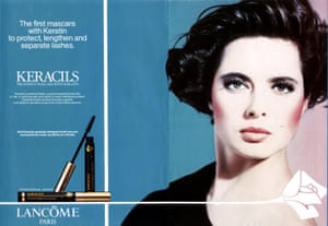 Isabella Rossellini in a Lancome advert in the 90s