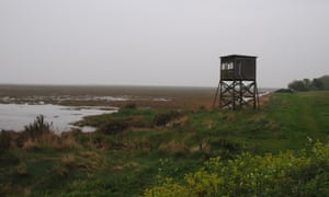 A viewing point at the Othona community overlooking the marshes