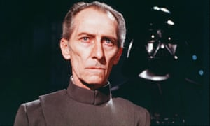 Peter Cushing as the Grand Moff Tarkin in Star Wars Episode IV - A New Hope (1977).