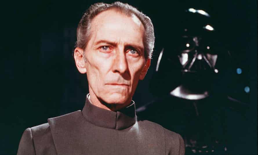 Peter Cushing in Star Wars Episode IV,  A New Hope, 1977