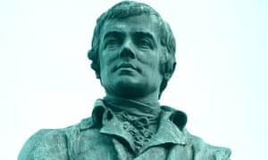 Robert Burns statue in Leith, Edinburgh.