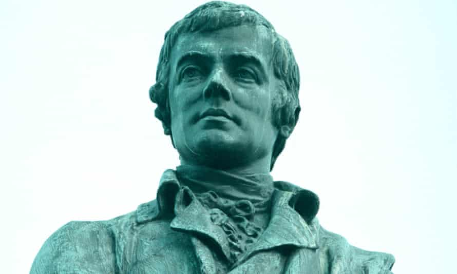 Robert Burns statue in Leith, Edinburgh.