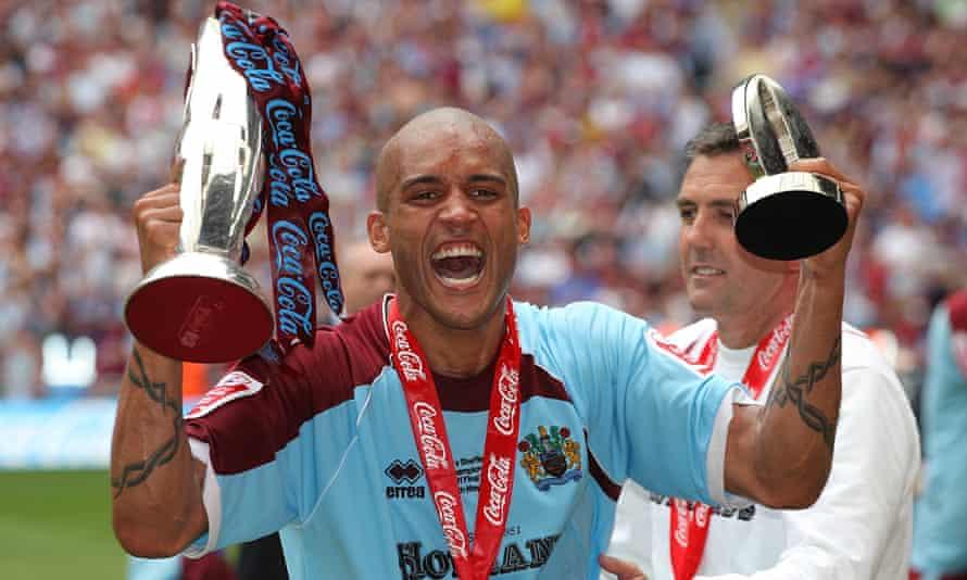 Burnley's man of the match Clarke Carlisle