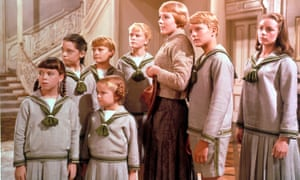 Heather Menzies, fifth from left, as Louisa von Trapp with Julie Andrews as Maria in The Sound of Music.