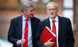 Jeremy Corbyn with Richard Leonard, the Scottish Labour leader