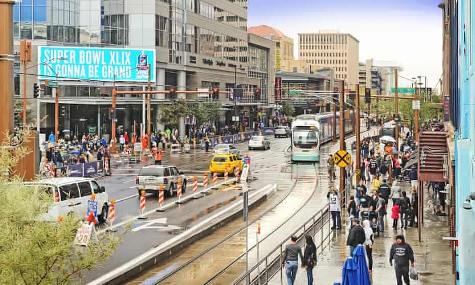 Light rail systems like Phoenix's offer public transportation options that reduce greenhouse gas emissions.