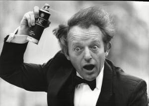 Paul Daniels using Mane hair spray, 1986