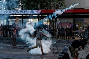 Demonstrators clash with security forces