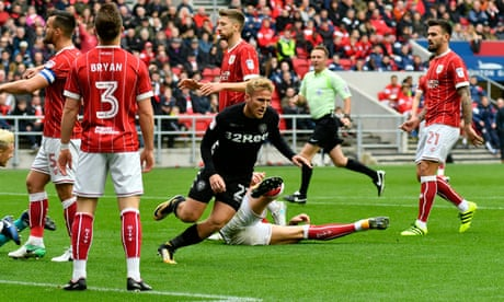 Leeds United's Samuel Sáiz hits swift double to halt Bristol City's charge