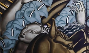 Detail from a panel, The Rape of Europa, for the first-class grand salon on the liner Normandie