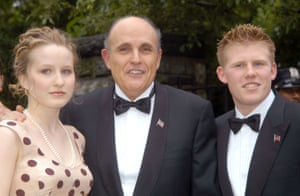 Giuliani and his daughter and son at his wedding.