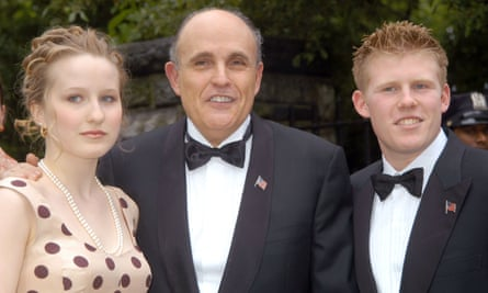 Rudy Giuliani with his daughter Caroline and his son Andrew.