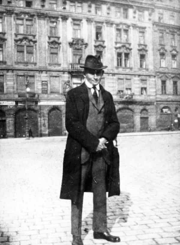 He 'pursued stories through the nights' … Franz Kafka in Prague's old town square (circa 1920).