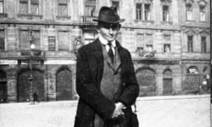 Franz Kafka on Prague's Old Town Square.