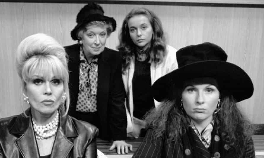 Joanna Lumley, June Whitfield, Julia Sawalha and Jennifer Saunders in Absolutely Fabulous.