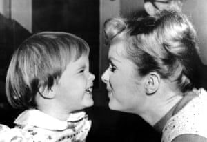 Debbie and Carrie on the set of Say One For Me in 1959