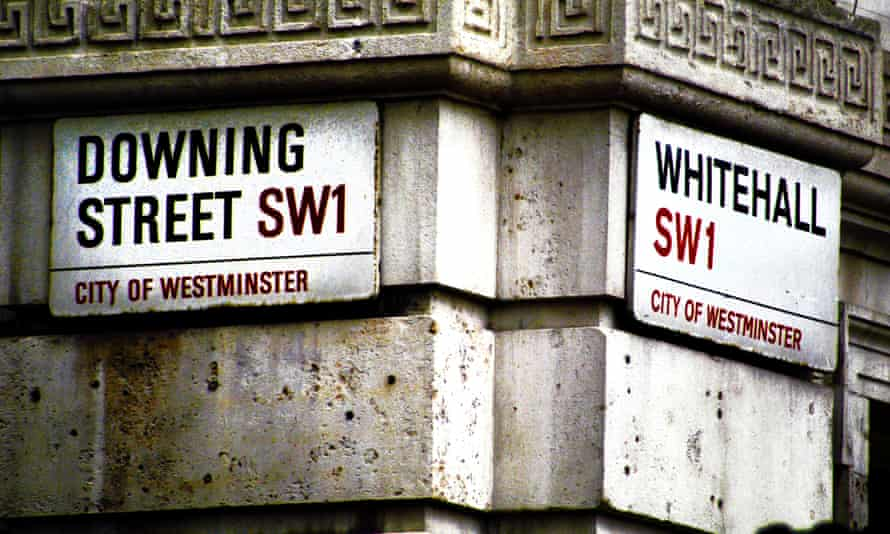 Downing Street and Whitehall signs