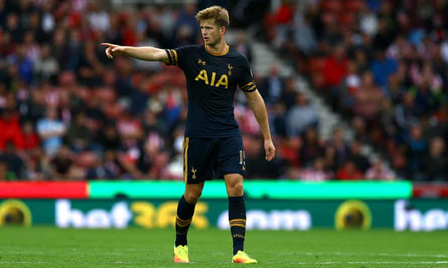 Eric Dier pictured during Tottenham's Premier League victory at Stoke last weekend.