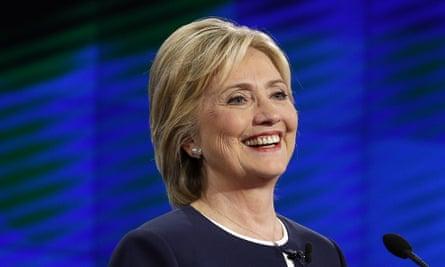 hillary clinton smile debate